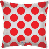 Red Polka Dot Square Decorator Balloon