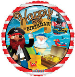 Pirate Ship Happy Birthday Balloon Bouquet