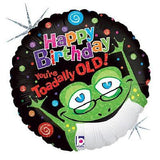 You're Toadally Old! Happy Birthday Balloon Bouquet