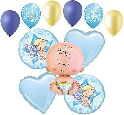 Yep I'm a Baby Boy Balloon Bouquet