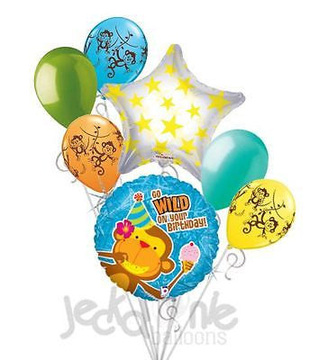 Party Monkey Happy Birthday Balloon Bouquet
