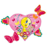 Tweety Heart Butterflies & Strawberry Balloon Bouquet