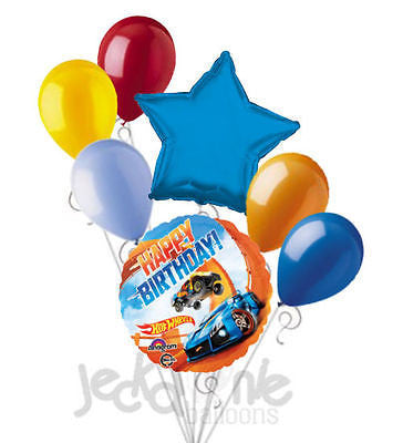 Hot Wheels Racer Happy Birthday Balloon Bouquet