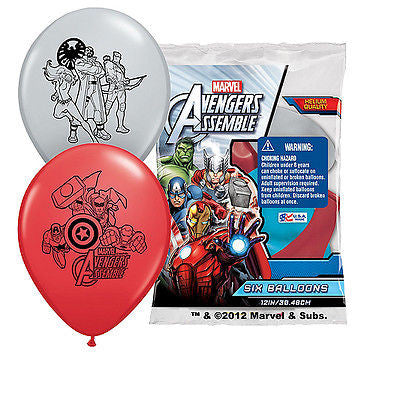 Avengers Assemble Latex Balloons