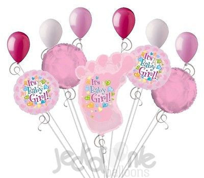 Its a Baby Girl Foot Balloon Bouquet
