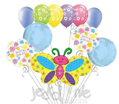 Spring Butterfly Happy Birthday Balloon Bouquet