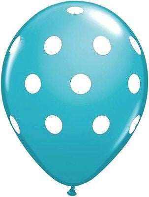 Qualatex Big Polka Dot Tropical Teal Latex Balloons