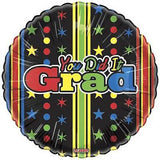 You Did It Grad Stripes & Stars Balloon Bouquet