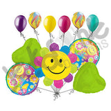 Smiling Daisy Happy Birthday Balloon Bouquet