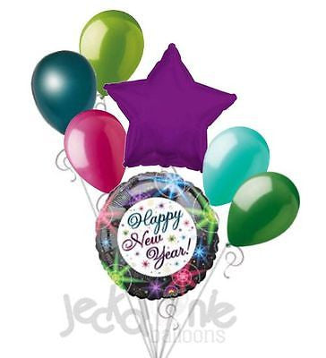 New Years Eve Colorful Star Lights Balloon Bouquet