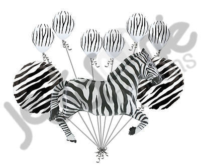 Black & White Zebra Balloon Bouquet