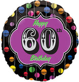 Bright Dots 60th Happy Birthday Balloon Bouquet