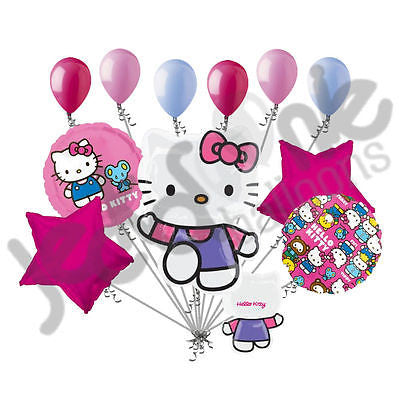 Purple Hello Kitty Characters Balloon Bouquet