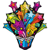 Happy Birthday Shooting Stars Present Balloon Bouquet