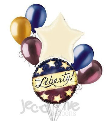 Rustic Liberty Patriotic 4th of July Balloon Bouquet