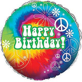 Tie-Dye Groovy Fun Happy Birthday Balloon Bouquet