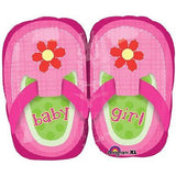 Pink & Lime Baby Girl Shoes Balloon Bouquet