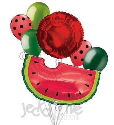Red Watermelon Slice Balloon Bouquet
