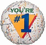Paint Splatter Grafitti You're #1 Graduate Balloon Bouquet