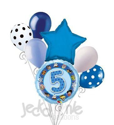 Happy 5th Birthday Pirates Balloon Bouquet