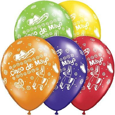Qualatex Cinco de Mayo Latex Balloons