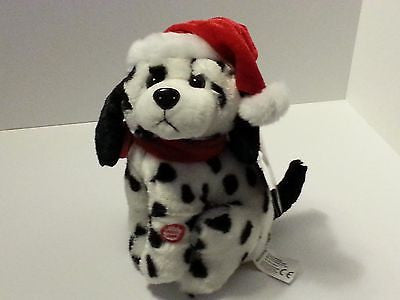 Dalmation Dancing Stuffed Dog with Musical Merry Christmas Song
