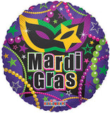 Mask & Beads Mardi Gras Balloon Bouquet