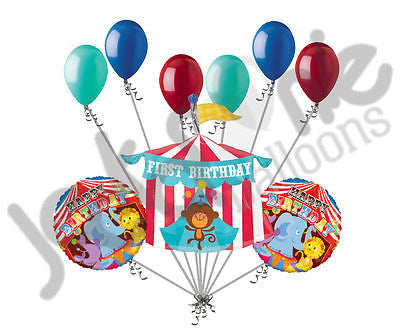 Circus Tent First Happy Birthday Balloon Bouquet Jeckaroonie Balloons