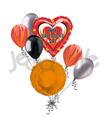 Hot Sizzle Happy Valentines Day Balloon Bouquet