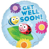 Get Well Soon Bugs & Flowers Balloon Bouquet