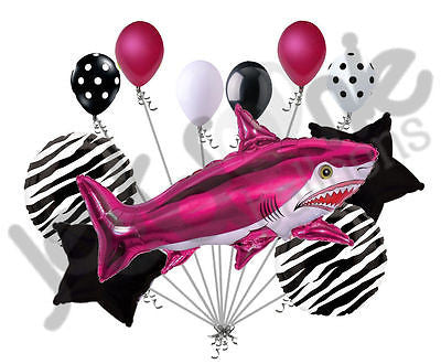 Fuschia Wild Tiger Shark Balloon Bouquet