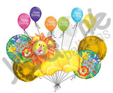 Jungle Party Lion Happy Birthday Balloon Bouquet