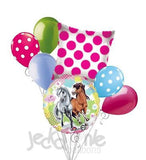 Playful Charming Horses Balloon Bouquet