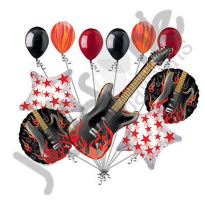 Rock Star Rock On Electric Guitar Balloon Bouquet