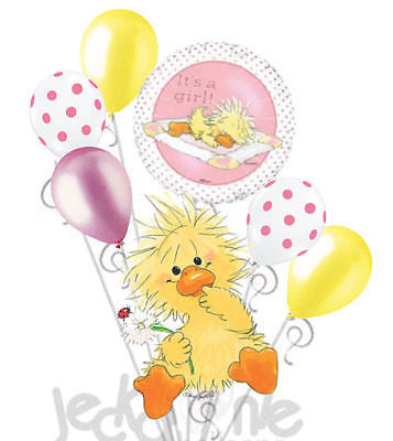 Suzy's Zoo Baby Girl Duck Witzy Balloon Bouquet
