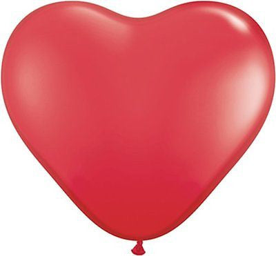 Qualatex Red Heart Shaped Latex Balloons