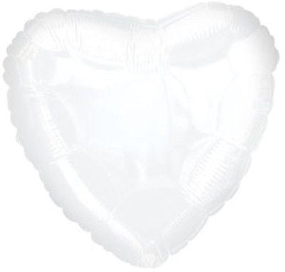 White Heart Decorator Balloon
