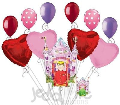 Love Will Reign Castle Valentines Day Balloon Bouquet