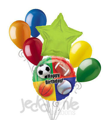 Sports Balls Happy Birthday Balloon Bouquet