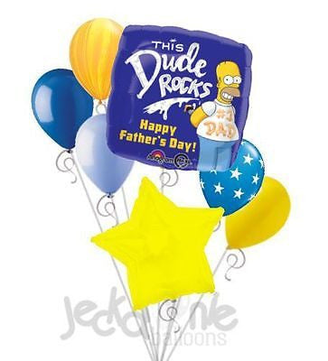 Homer Simpson Happy Father's Day Balloon Bouquet
