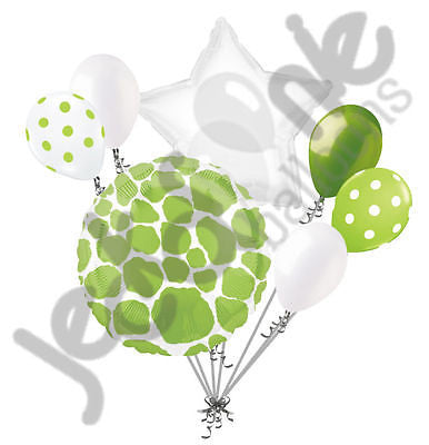 Lime Green Giraffe Print Balloon Bouquet