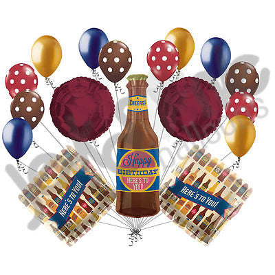 Beer Bottle Heres To You Happy Birthday Balloon Bouquet