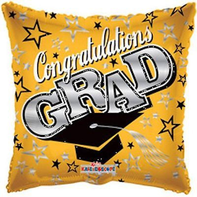 Gold Congratulations Grad Square Balloon