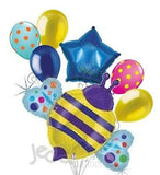 Holographic Bumblebee Balloon Bouquet