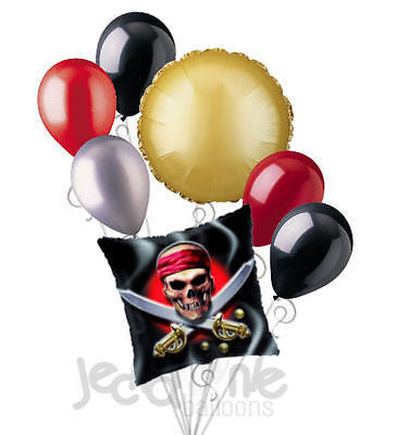Pirate Skull & Swords Balloon Bouquet