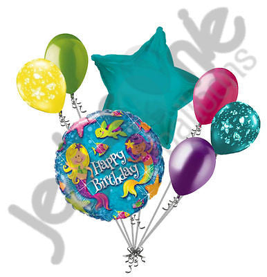 Merry Mermaids Happy Birthday Balloon Bouquet