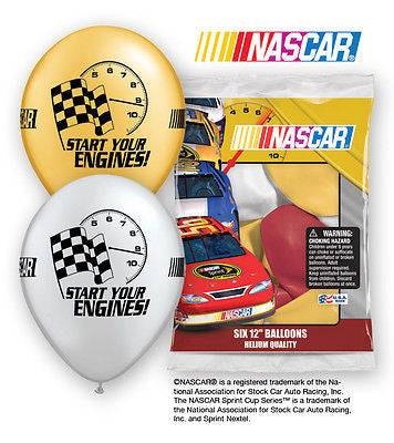 Nascar Racing Latex Balloons
