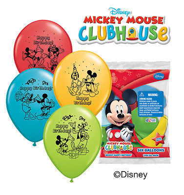Disney Mickey Mouse Happy Birthday Latex Balloons