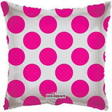 Hot Pink Polka Dot Square Decorator Balloon
