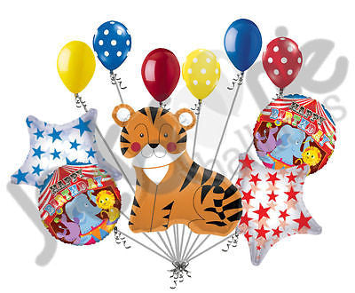 Circus Tiger Happy Birthday Balloon Bouquet